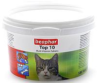 Кормовая добавка Top10 с биотином и таурином для кошек, Beaphar - 180 табл.