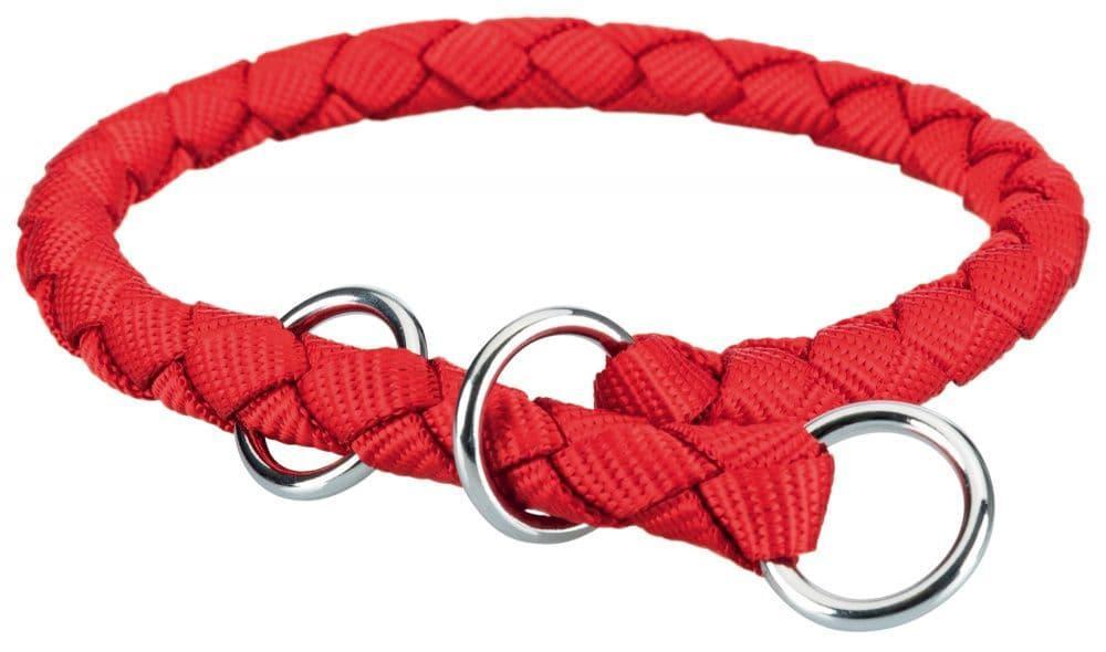 Ошейник-полуудавка Trixie Cavo для собак с ограничителем, нейлоновый (Красный) - 30–36 см