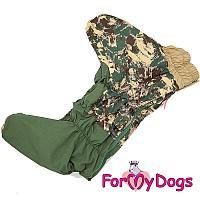 Комбинезон - камуфляж ForMyDogs для мальчиков (Хаки) - 30 см