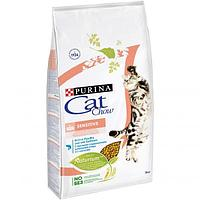 Корм Cat Chow Sensitive для взрослых кошек, с чувствительным пищеварением (Птица и Лосось) - 15 кг