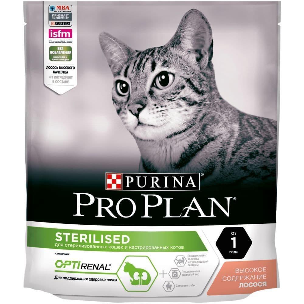 Корм Pro Plan для стерилизованных кошек и кастрированных котов (Лосось) - 400 г
