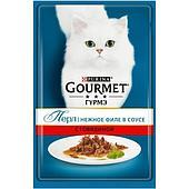 Корм Gourmet Perle для кошек (Говядина в подливе) - 85 г