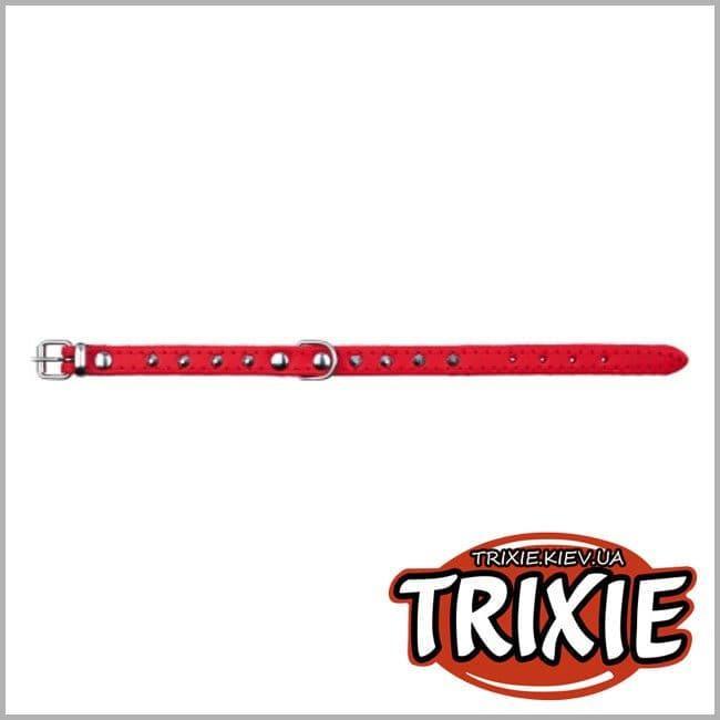Ошейник Trixie для собак, кожа, S–M: 33–39 см/16мм, красный