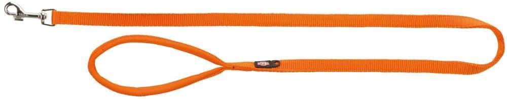 Premium поводок для собак, M-L: 1.00 m/20 mm, папайя