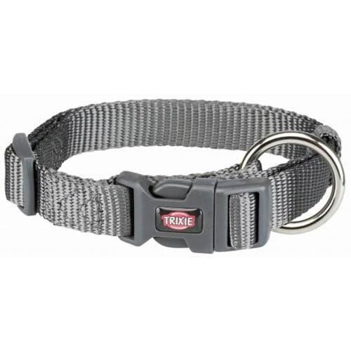 Ошейник Trixie Premium для собак до 15кг, S–M: 30–45см/15мм, графит
