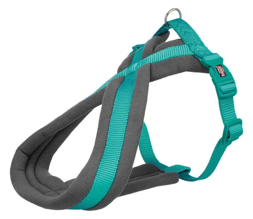 Premium шлейка для собак, M: 45–80 cm/25 mm, океан.