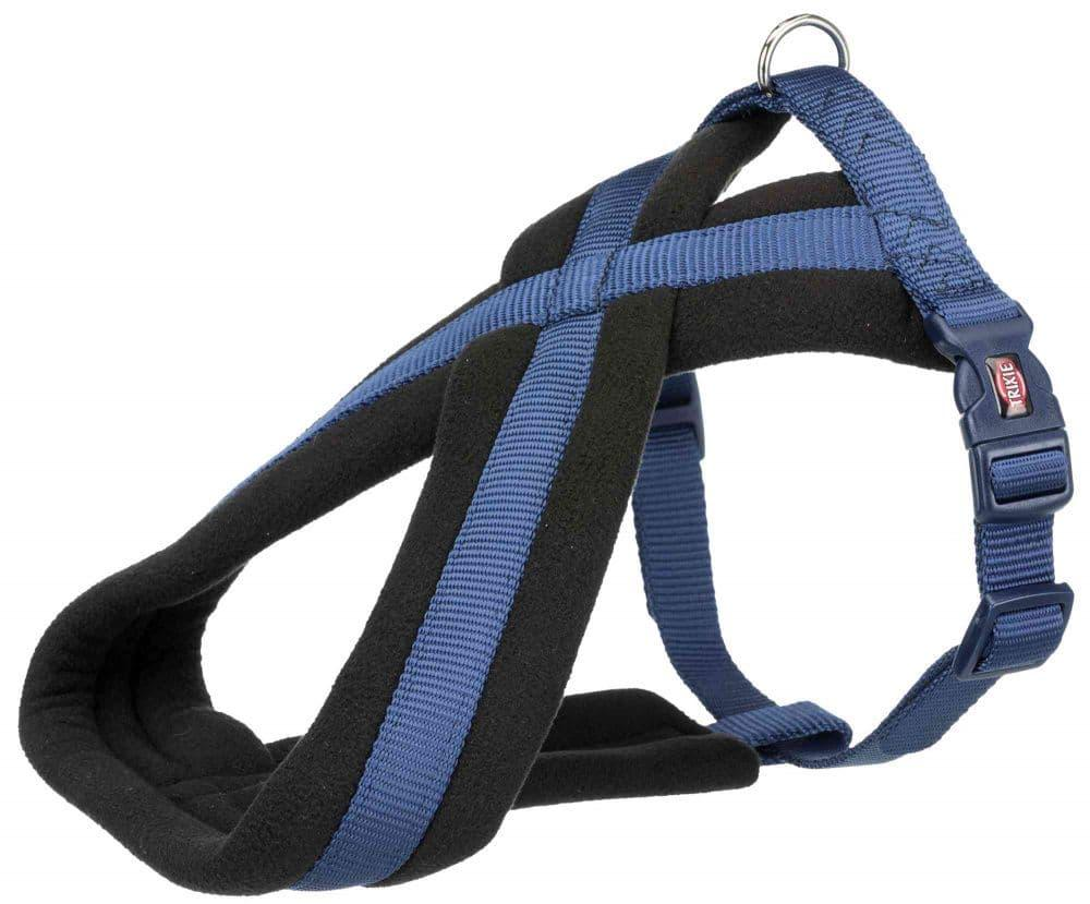 Premium шлейка для собак, M: 45–80 cm/25 mm, индиго.