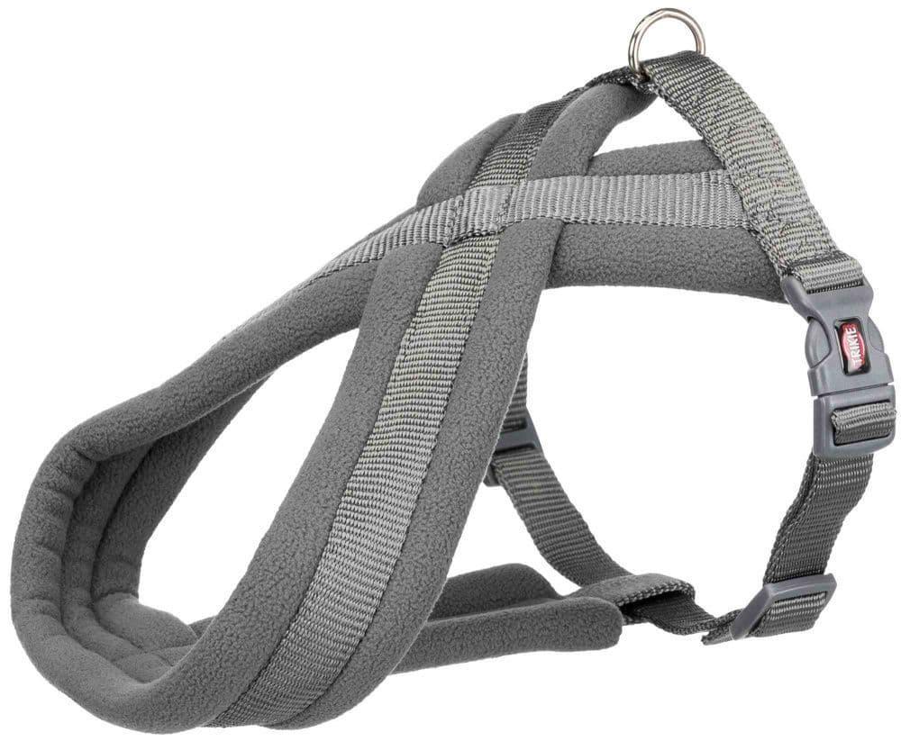 Premium шлейка для собак, M–L: 50–90 cm/25 mm, графит