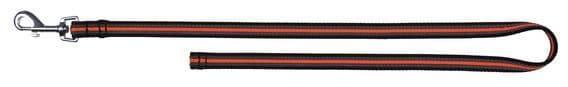 Черно-оранжевый нейлоновый поводок для аджилити и занятий спортом - 1 м