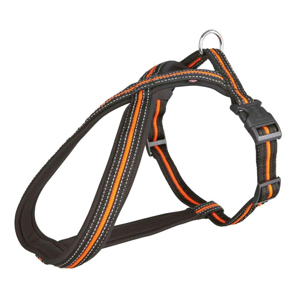Шлейка для собак Fusion, M–L: 50–80 cm/25 mm, черн\оранж