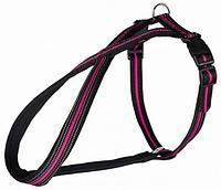 Шлейка для собак Fusion, M: 45–70 cm/25 mm, черн\розовый