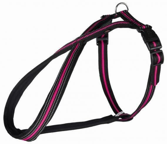 Шлейка для собак Fusion, M–L: 50–80 cm/25 mm, черн\розовый