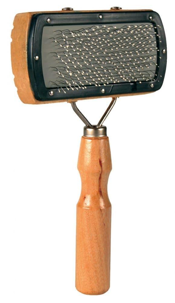 Щетка деревянная для шерсти, для собак и кошек.