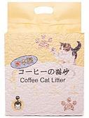 Комкующийся наполнитель Hakase Arekkusu для кошачьего туалета, биоразлагаемый (Кофе) - 6 л