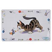 Пластиковый коврик для кошек и котят на нескользящем дне - 44х28 см
