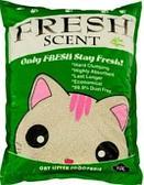 Комкующийся наполнитель Fresh Scent для туалета кошек (Мята) - 10 л