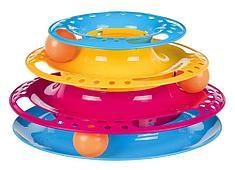 Пластиковая круглая башня, игрушка для кошек - 25 см / 13 см