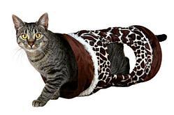 """Игрушка """"Игровой тоннель со вшитой фольгой"""" для кошек и мелких пород собак, Trixie - 50х22 см"""