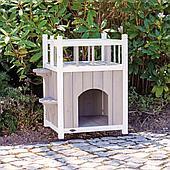 Дом для кошек, с балконом 45 × 65 × 45 cm