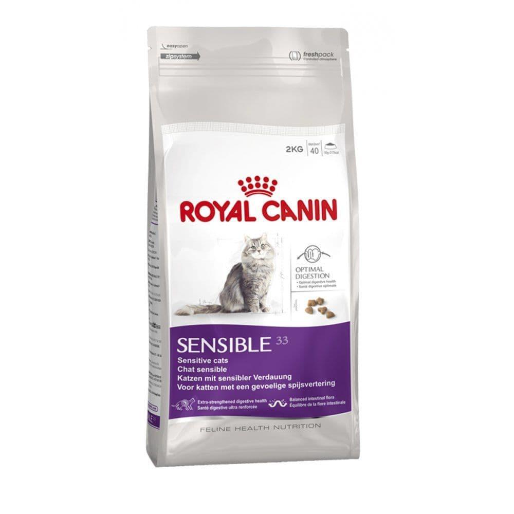 Корм для кошек с чувствительным пищеварением, Sensible 33 - 400 гр