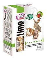 Минеральный камень для грызунов и кролика с яблоком, LoLo Pets - 190 гр