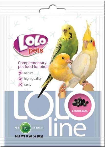 Дополнительная кормовая смесь c углем для птиц, Charcoal Lololine - 8 гр