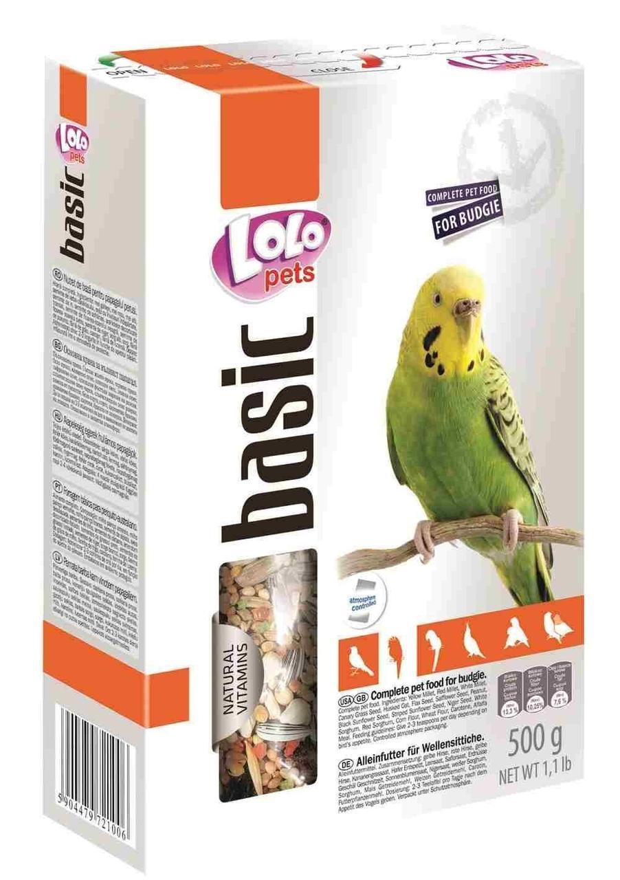Корм для волнистых попугаев, Lolo pets - 500 гр