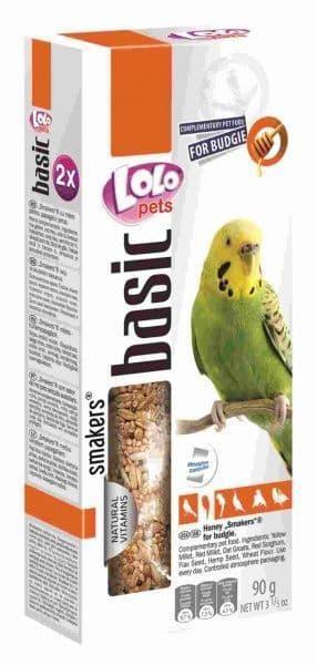 Лакомство для волнистых попугаев, LoLo Pets Smakers (Мед) - 90 г