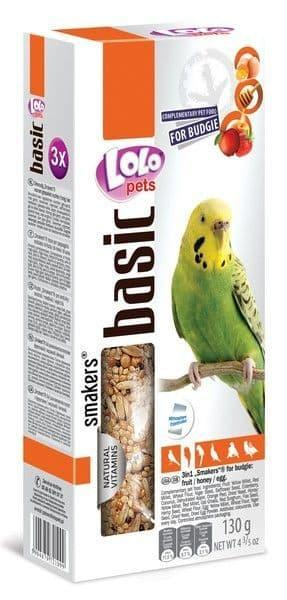 Лакомство для волнистых попугаев Палочки, Lolo pets (Клубника) - 90 гр