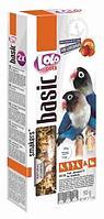 Лакомство для птиц неразлучников, Lolo pets (С фруктами) - 90 гр