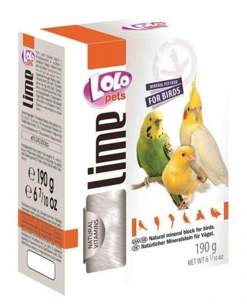Минеральный камень натуральный для декоративных птиц XL, Lolo pets - 190 гр