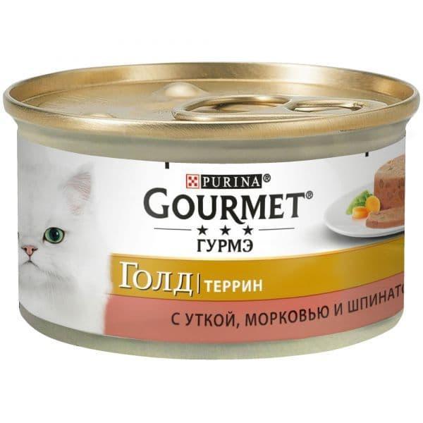 Паштет Gourmet Gold для кошек (Утка, Морковь, Шпинат) - 85 г