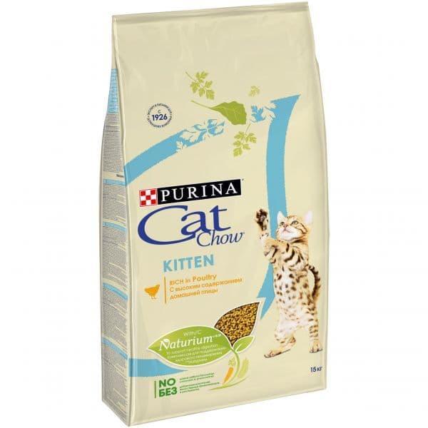 Корм Cat Chow для котят (Птица) - 15 кг
