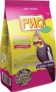 Корм для средних попугаев в период линьки, Rio - 500 гр