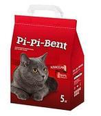 Комкующийся наполнитель PI-PI-BENT для кошачьего туалета (Classic) - 5 кг, 10 л