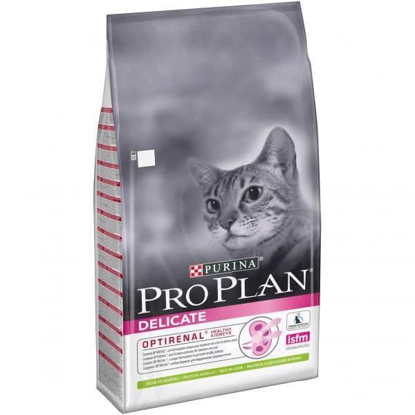 Корм Pro Plan Delicate для кошек с чувствительным пищеварением и привередливых (Ягненок) - 10 кг