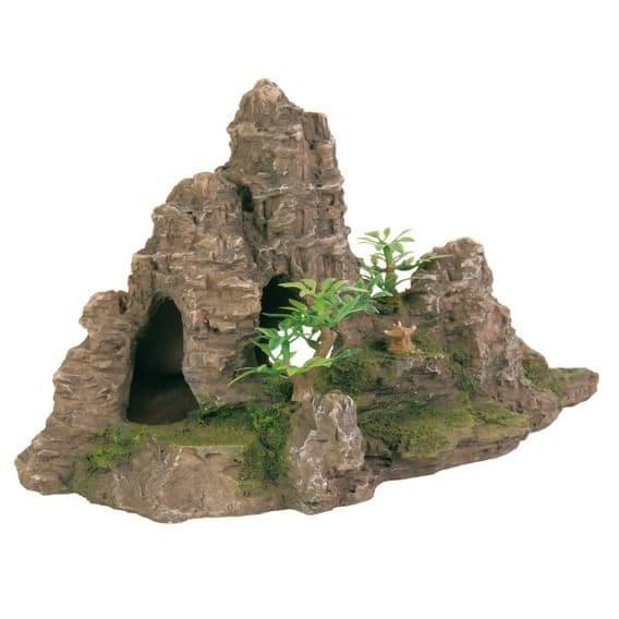"""Декорация """"Гора с растениями"""" - 22 см"""
