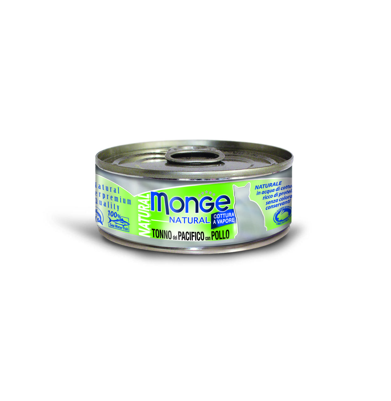 Консервы Monge Cat Natural для взрослых кошек (Желтоперый тунец с курицей) - 80 г