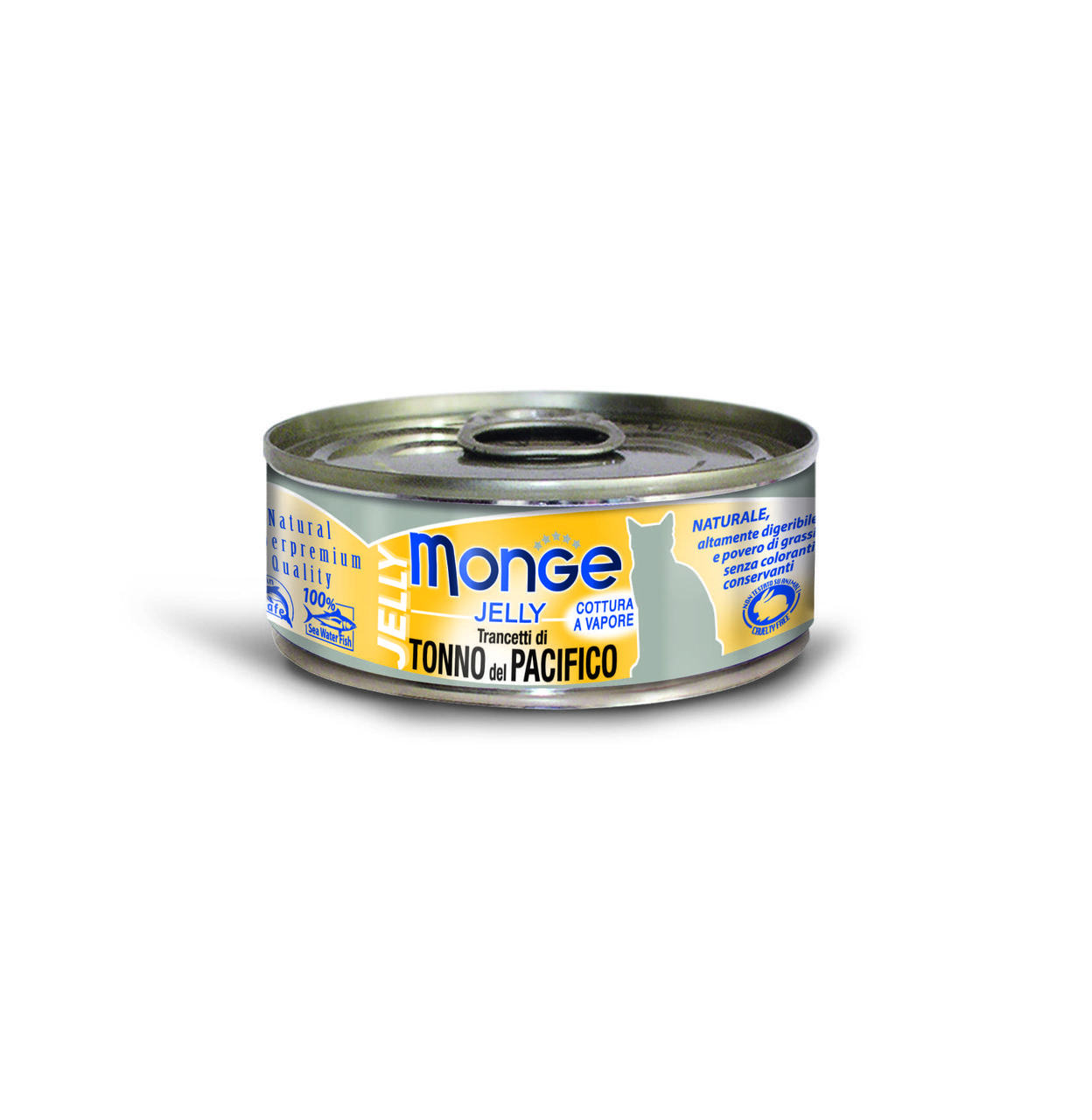 Консервы Monge Cat Jelly для взрослых кошек (Желтоперый тунец в желе) - 80 г