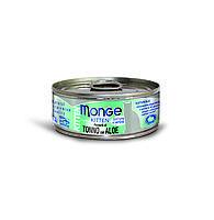 Консервы Monge Cat Jelly для котят (Желтоперый тунец с алое в желе) - 80 г