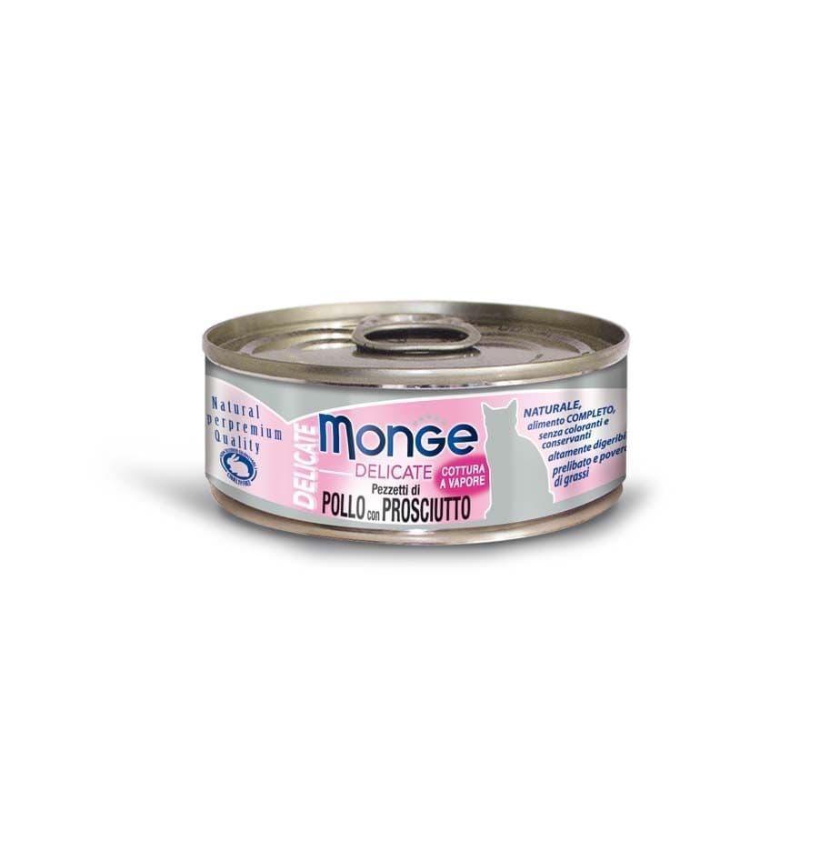 Консервы Monge Cat Delicate для взрослых кошек (Курица с ветчиной) - 80 г