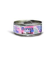 Консервы Monge Cat Natural взрослых кошек (Тунец и курица с креветками) - 80 г