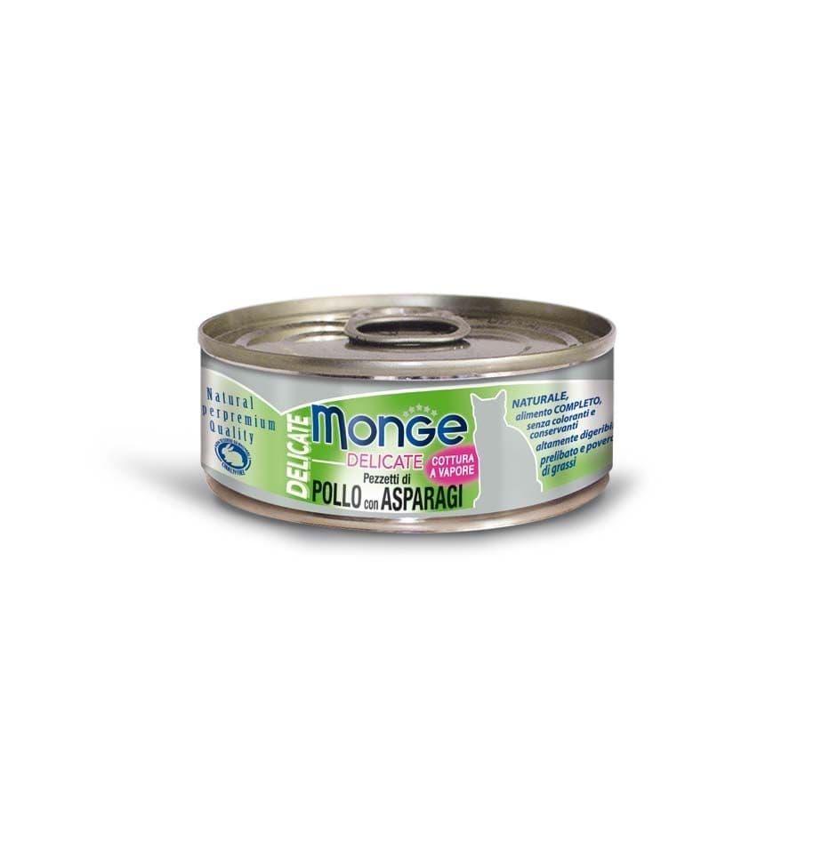 Консервы Monge Cat Delicate для взрослых кошек (Курица со спаржей) - 80 г