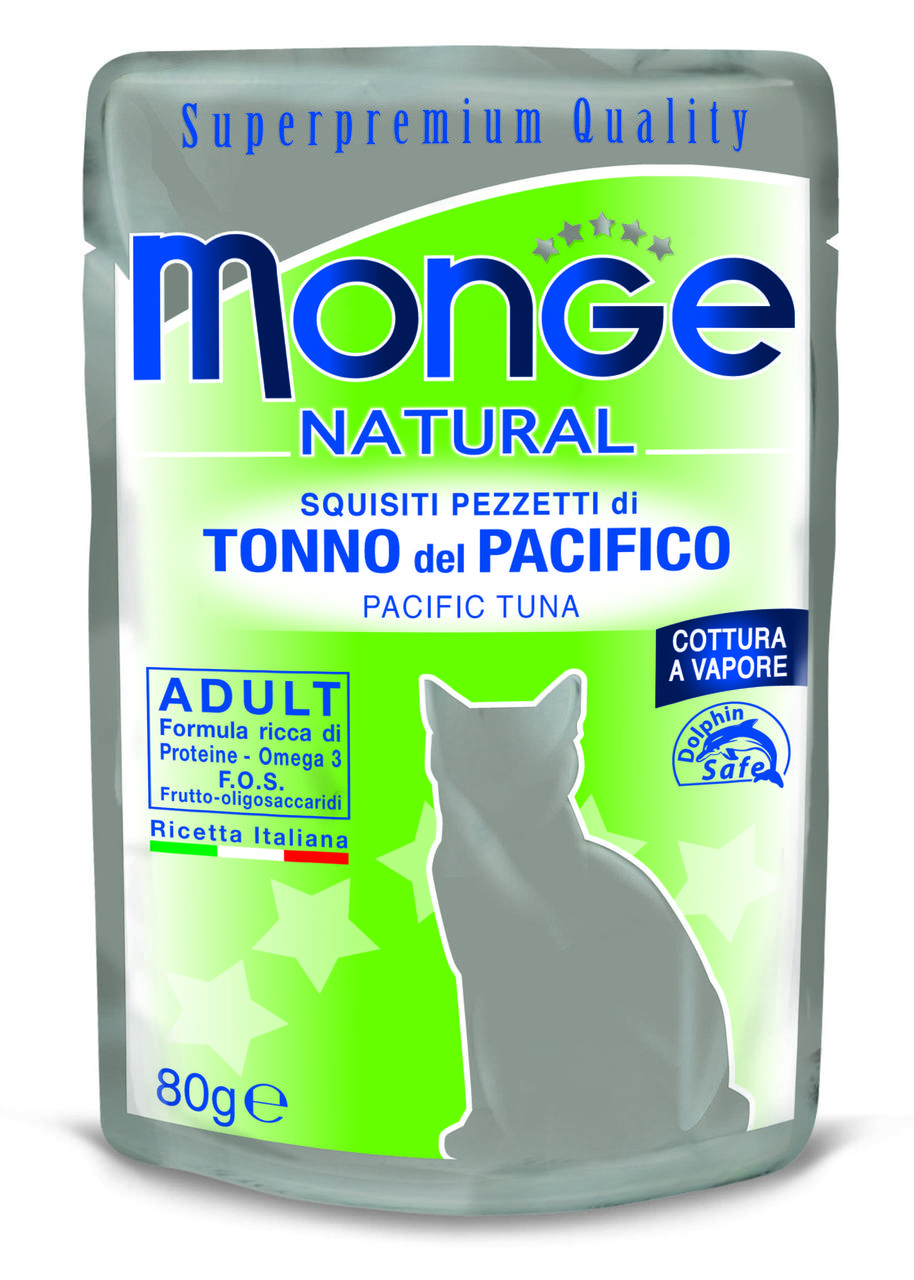 Корм Monge Adult для взрослых кошек (Тунец в желе) - 80 г
