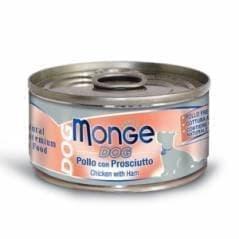 Консервы Monge Natural Chunks Chicken & Ham для собак (Цыпленок с Ветчиной) - 95 г