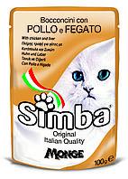 Корм Monge Simba для кошек (Курица и печень) - 100 г