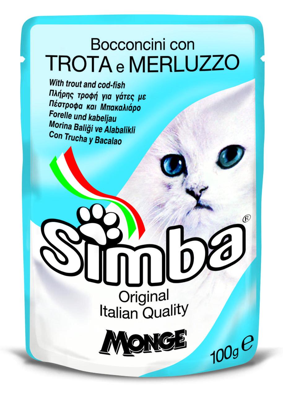 Корм Monge Simba для кошек (Форель и треска) - 100 г