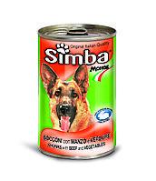 Корм Simba Wet Premium Quality Chunkies Beef & Vegetables для собак (Телятина с Овощами) - 1230 г