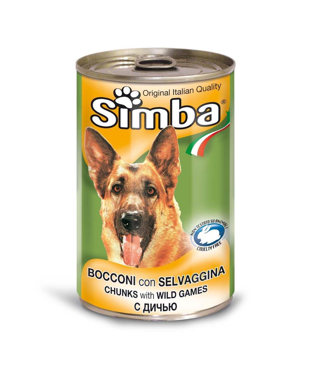 Корм Simba Wet Premium Quality Chunkies with Wild Games для собак (Дичь) - 1230 г