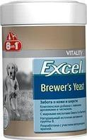 Пивные дрожжи Excel Brewer's Yeast для поддержания кожи и шерсти собак и кошек, 8in1 - 260 табл.